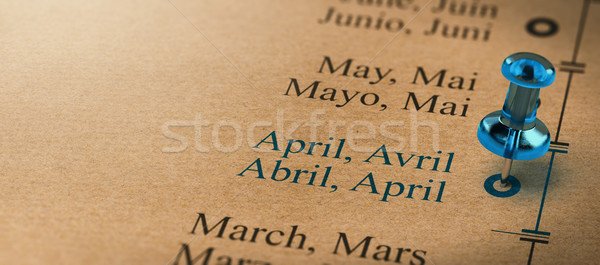 Focus on April, Months of the Year Stock photo © olivier_le_moal