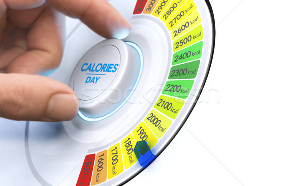 Stock photo: Reduce Calories, Nutrition and Balanced Diet Concept