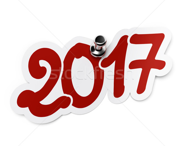 New year 2017, two thousand seventeen Stock photo © olivier_le_moal