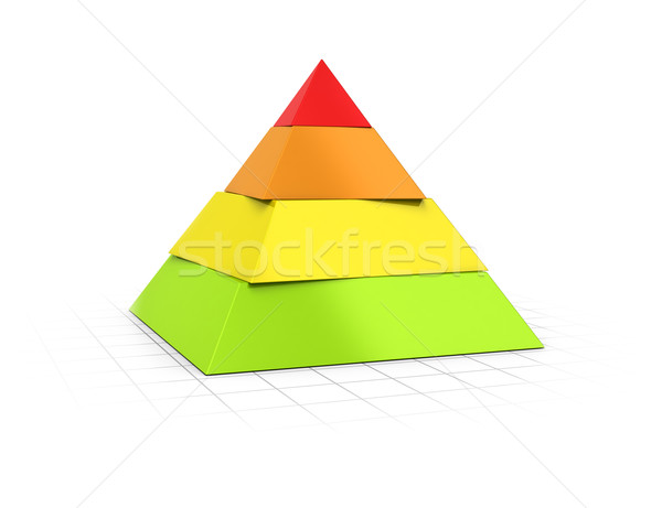 Layered Pyramid Four Levels  Stock photo © olivier_le_moal
