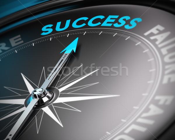 Motivierend Plakat Motivierung Bild abstrakten Kompass Stock foto © olivier_le_moal