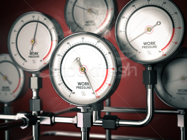 Kiégés 3d illusztráció egy piros munkahely stressz Stock fotó © olivier_le_moal