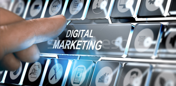 Online Digital Marketing Campaign Concept Stock photo © olivier_le_moal