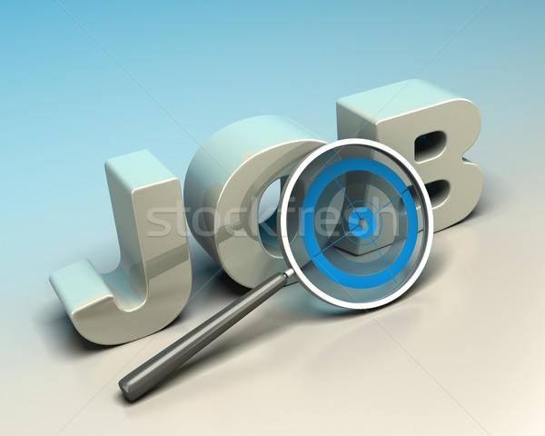 álláskeresés szó állás írott 3D levelek Stock fotó © olivier_le_moal