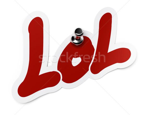 Rir lol abreviatura palavra adesivo fixo Foto stock © olivier_le_moal