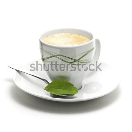 Usine tasse de café décoratif frontière page alimentaire Photo stock © olivier_le_moal
