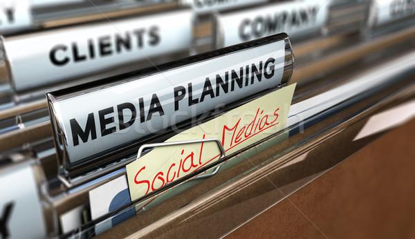 социальной файла текста СМИ планирования Сток-фото © olivier_le_moal
