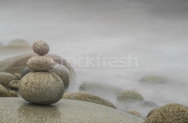 Ciottolo zen tre ciottoli Foto d'archivio © olivier_le_moal