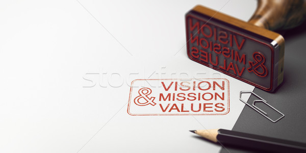 Company Statement, Vision, Mission and Values Stock photo © olivier_le_moal