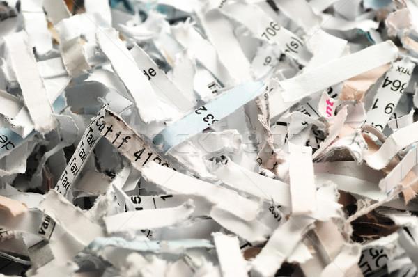 документы уничтожения конфиденциальный разрушенный бумаги фон Сток-фото © olivier_le_moal