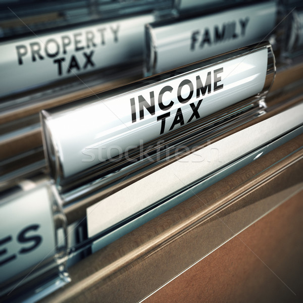 Income Tax - Taxes Concept Stock photo © olivier_le_moal