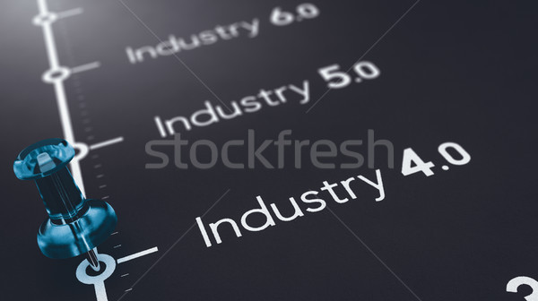 Industry 4.0 and the next manufacturing evolutions Stock photo © olivier_le_moal