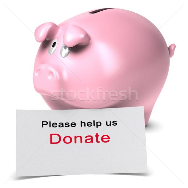Helpen schenken schenking tekst geschreven witte Stockfoto © olivier_le_moal