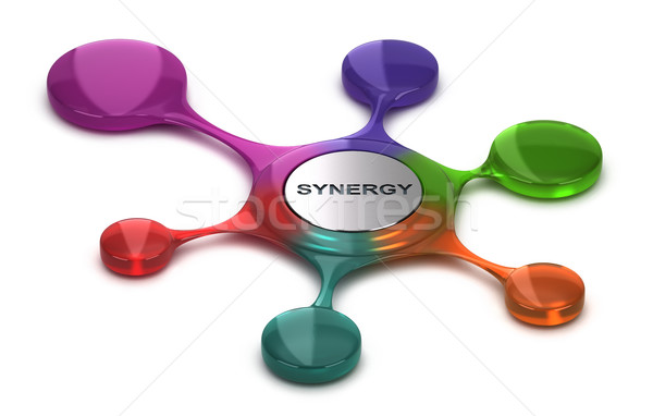 Business or Company Synergy, Team Cohesion Stock photo © olivier_le_moal