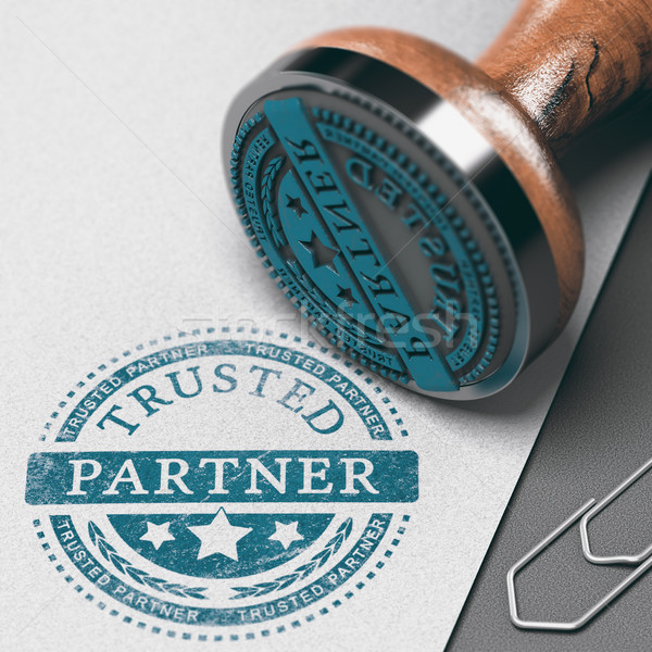 Create Strong Business Partnership, Building Trust Stock photo © olivier_le_moal