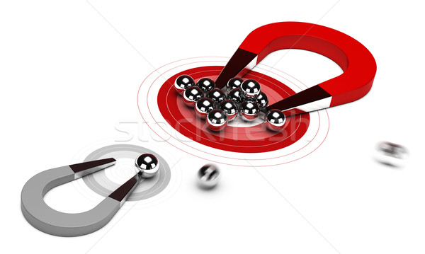 ストックフォト: 戦略的 · マーケティング戦略 · 馬蹄 · 磁石 · 多くの