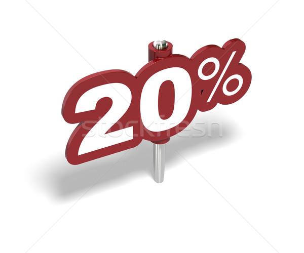 Vinte percentagem assinar 20 por cento vermelho Foto stock © olivier_le_moal