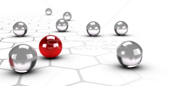 Innovatie uniek business verschil een Rood Stockfoto © olivier_le_moal