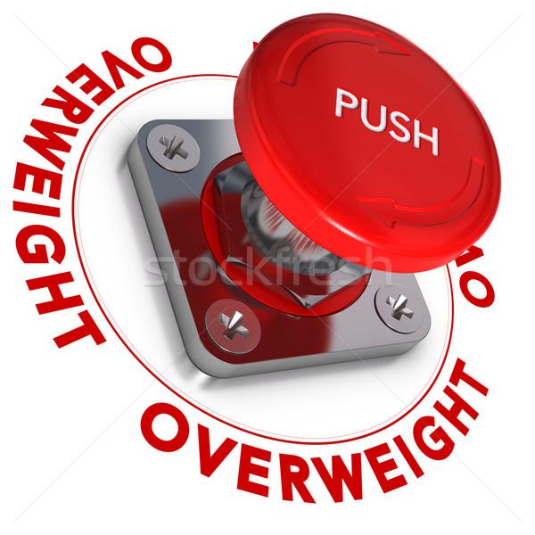 Sobrepeso problemas la toma de decisiones botón palabra escrito Foto stock © olivier_le_moal