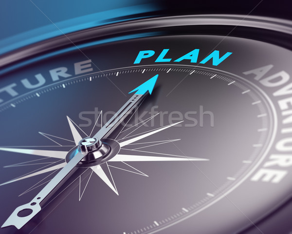 Organizar plano bússola agulha indicação palavra Foto stock © olivier_le_moal