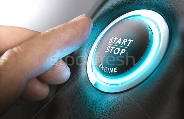 Car Start and Stop Button Stock photo © olivier_le_moal