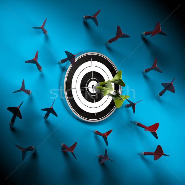 Focus eerste een veel Rood darts Stockfoto © olivier_le_moal