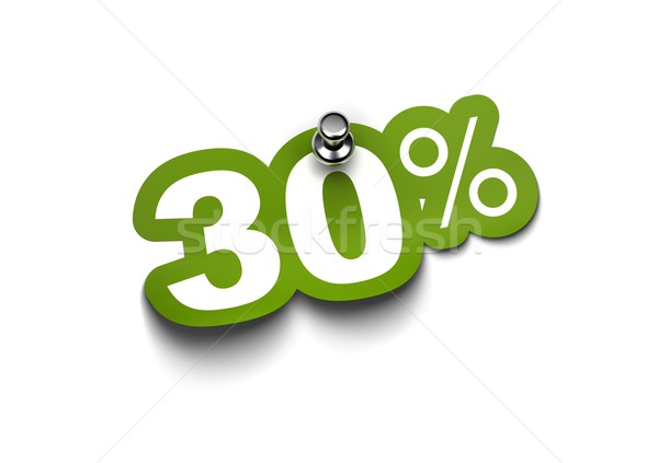 thirty percent sticker Stock photo © olivier_le_moal