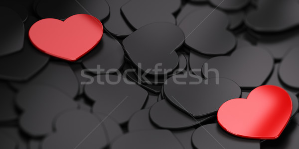 Separated Love Background Stock photo © olivier_le_moal