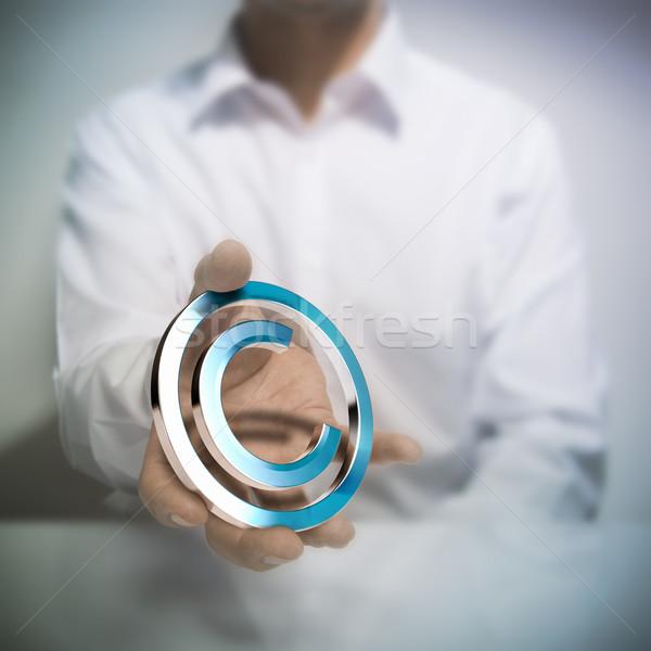 авторское право человека металлический символ изображение Сток-фото © olivier_le_moal