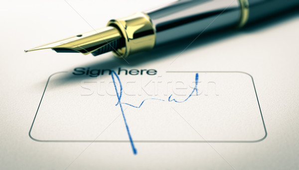 Signature on a Document Stock photo © olivier_le_moal