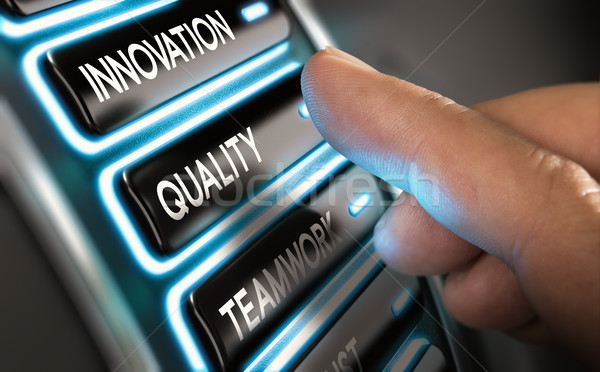 Company Values, Innovation, Quality and Teamwork Stock photo © olivier_le_moal