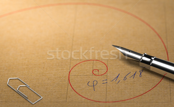Fibonacci, Divine Proportion and Golden Ratio. Mathematics Conce Stock photo © olivier_le_moal