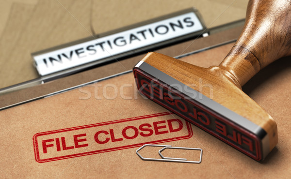Investigative Services, Abandoned Investigation, File closed. Stock photo © olivier_le_moal