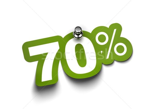 seventy percent sticker Stock photo © olivier_le_moal