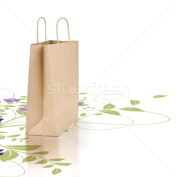 Green and eco friendly paper shopping bag Stock photo © olivier_le_moal