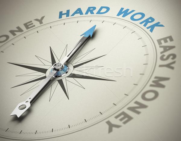 Pessoal valores trabalho duro bússola agulha indicação Foto stock © olivier_le_moal