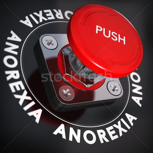 еды анорексия красный кнопки Сток-фото © olivier_le_moal