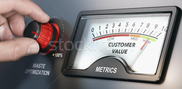 Produkcji klienta wartość strony odpadów Zdjęcia stock © olivier_le_moal