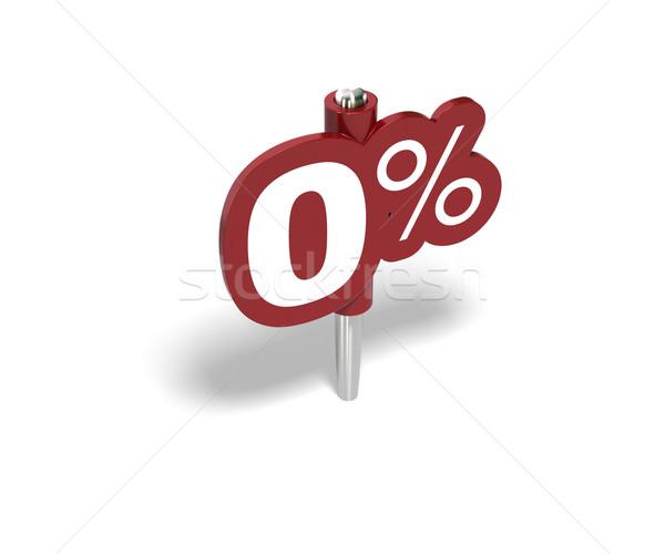 Pari a zero percentuale segno 100 cento rosso Foto d'archivio © olivier_le_moal