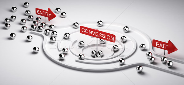 Marketing Conversion Funnel Stock photo © olivier_le_moal