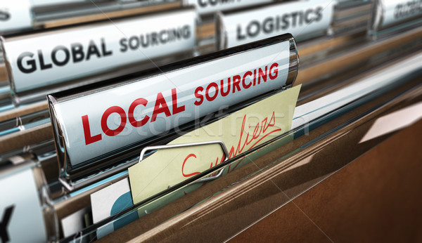 Local Business Versus Global Sourcing Stock photo © olivier_le_moal