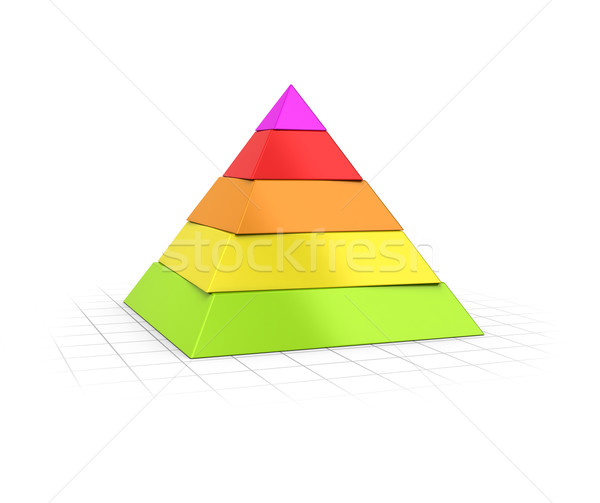 Layered Pyramid Five Levels  Stock photo © olivier_le_moal