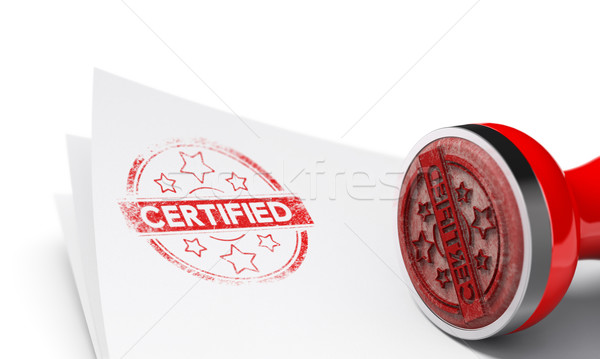 Certified Background Stock photo © olivier_le_moal