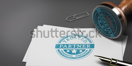 Affaires Consulting fiche papier Photo stock © olivier_le_moal