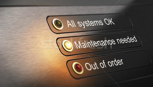обслуживание ремонта 3d иллюстрации приборная панель предупреждение фон Сток-фото © olivier_le_moal