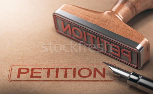 Palavra petição papel ilustração 3d fundo Foto stock © olivier_le_moal