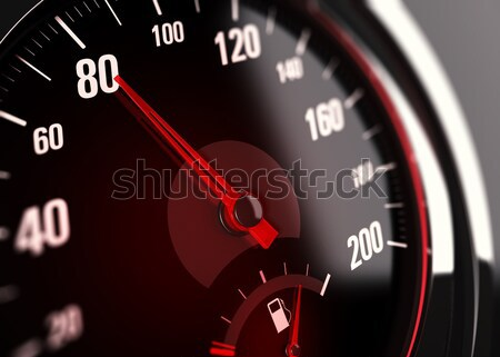 Speedometer, Speed Limit at 80 km per hour Stock photo © olivier_le_moal