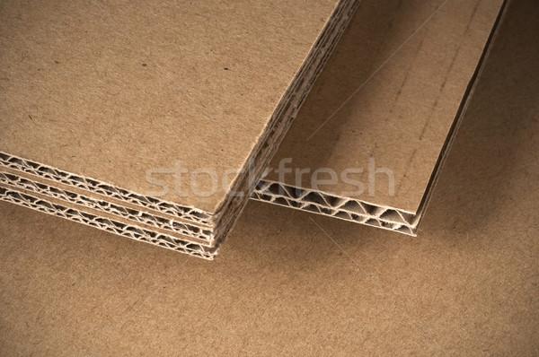 Carton vue côté fond cadre wallpaper Photo stock © olivier_le_moal
