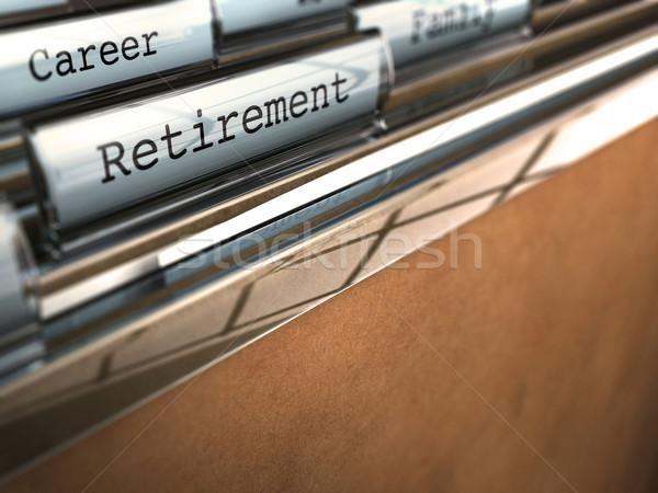 retirement folder, end of career Stock photo © olivier_le_moal