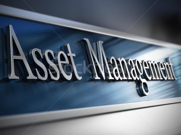 Asset Management Unternehmen Plaque Gebäude Bereich Stock foto © olivier_le_moal